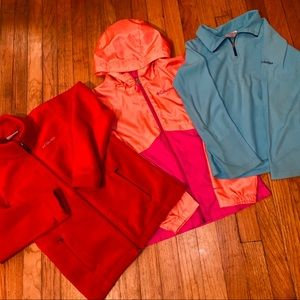 Lot of 3 Girls Columbia Jackets